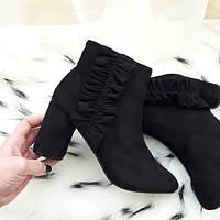 Черевики жіночі чорні на каблуку