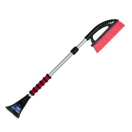 Щетка-скребок Technics для снега и льда телескопическая ручка 1.14 м (52-814), фото 2