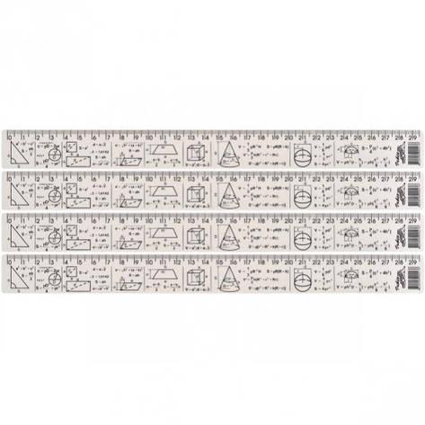 ЛИНЕЙКА 30 СМ, ПЛАСТИКОВАЯ «ГЕОМЕТРИЯ»    PLB-30G, фото 2