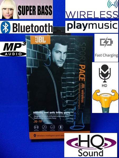 Bluetooth наушники jd 19-jbl с микрофоном / Wireless / Sport PACE