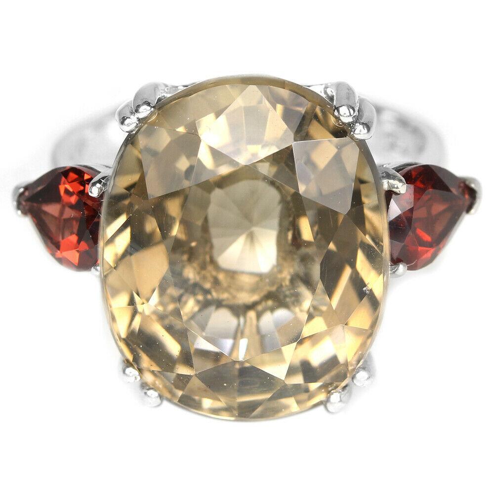 Кольцо серебряное с дымчатым кварцем размер 17