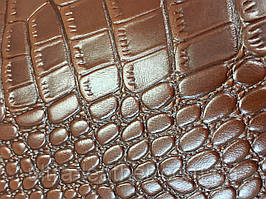 Натуральная кожа Ultra с тиснением крокодил _ коричневая
