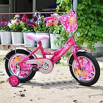"""Двухколесный велосипед Mustang Принцесса 14"""" розовый"""