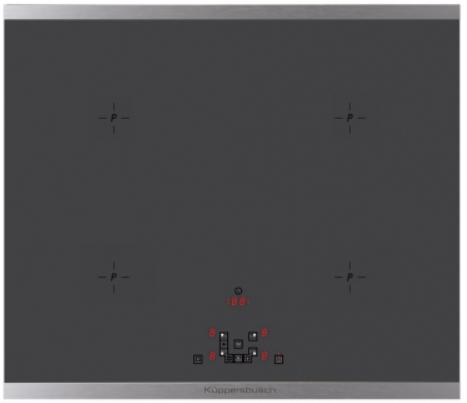 Индукционная варочная поверхность Kuppersbusch KI6520.0SE рамка из нержавеющей стали
