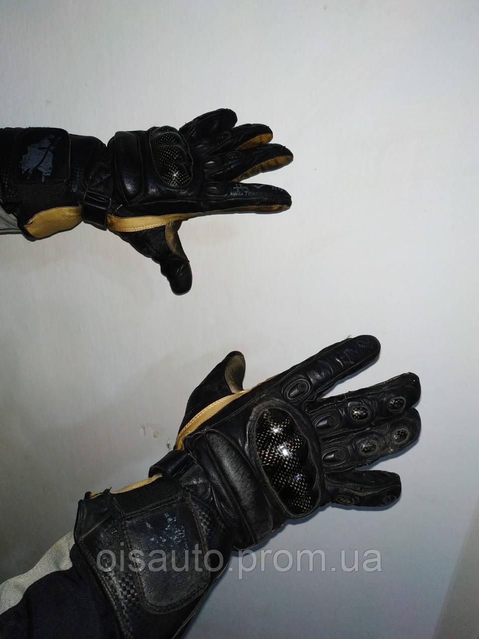 Рукавиці мотоциклетні із захистом б/у (шкіра)
