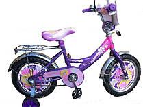 """Двухколесный велосипед Mustang Принцесса 12"""" фиолетовый"""