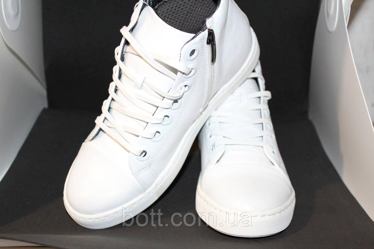 Конверсы белые кожаные, фото 2