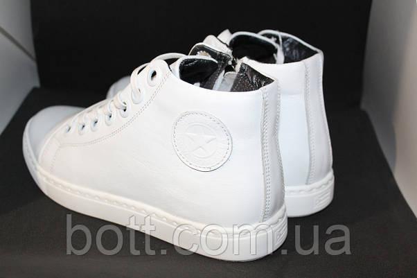 Белые кожаные кеды конверсы, фото 3