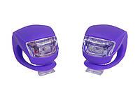Мигалка 2шт BC-RL8001 белый+красный свет LED силиконовый (фиолетовый корпус)