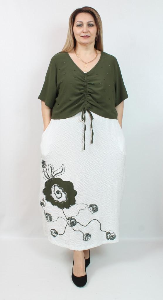 Турецкое летнее женское платье, размеры 52-64