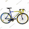 Велосипед Profi  28 FIX26C700-UKR1H Fixed Gear Bike, Фикс и Сингл спид (Желто-синий)