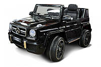 Детский электромобиль Джип Мерседес Гелендваген JJ263 черный на пульте, електромобиль кубик