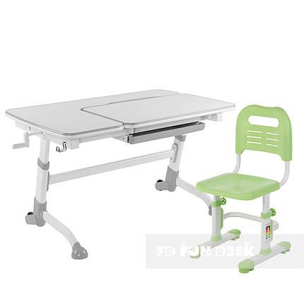 Комплект подростковая парта Amare Grey + детский стул SST3L Green FunDesk , фото 2