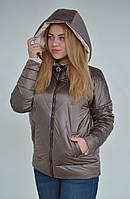 Женская весенняя куртка капуччино