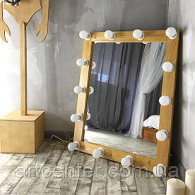 Прямокутне дзеркало з підсвічуванням для макіяжу