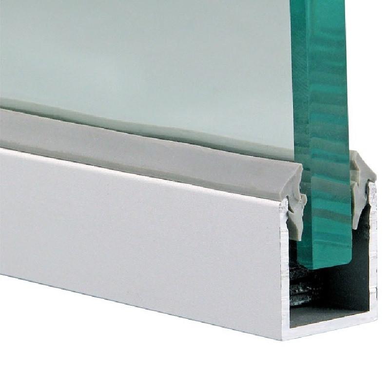 Профиль П-образный для стекла ШВЕЛЛЕР 20*20*20 ММ (АЛЮМИНИЕВЫЙ)