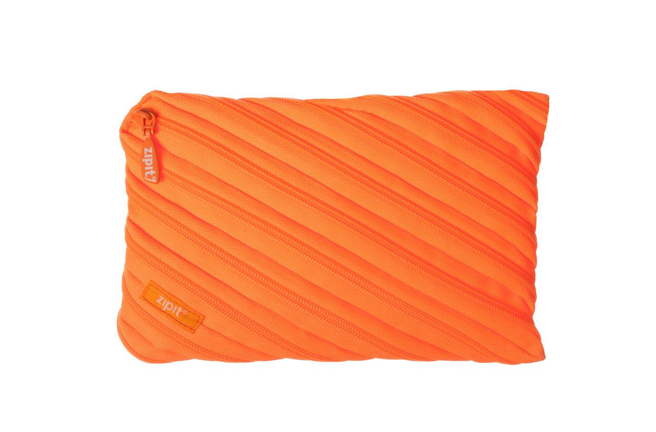 Пенал ZIPIT NEON JUMBO, цвет CRAZY ORANGE (оранжевый)