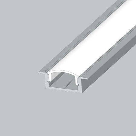 Алюмінієвий профіль для світлодіодної стрічки ЛПВ-7 врізний