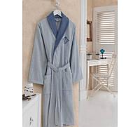 Махровый хлопковый халат Cotton Box Daily MAVI-MAVI р.M/L