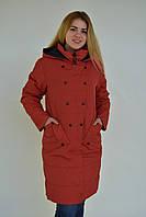 Женское весенне пальто красное