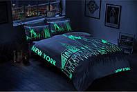 """Евро-комплект постельного белья TAC Glow """"New York"""". Сатин"""