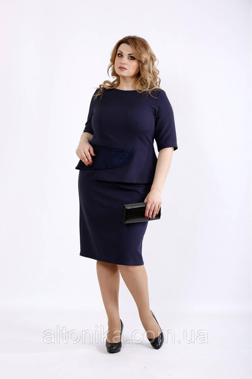 Женское деловое платье из костюмки   42-74