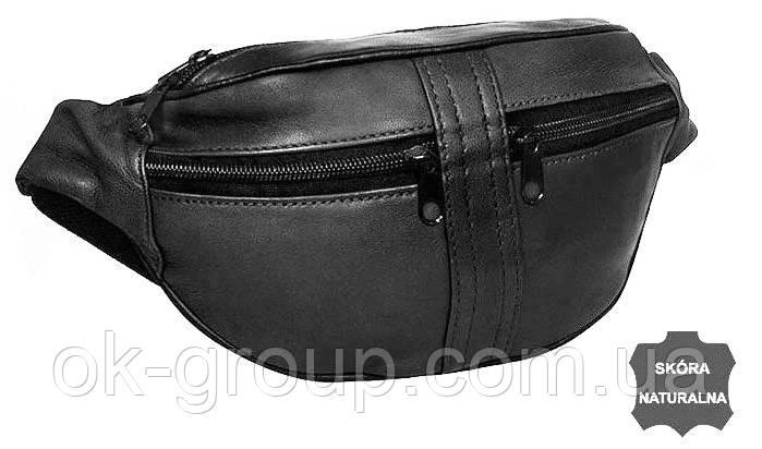 Поясная сумка из натуральной кожи Cavaldi 901-353 black, черная