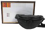Поясная сумка из натуральной кожи Cavaldi 901-353 black, черная, фото 5