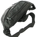 Поясная сумка из натуральной кожи Cavaldi 901-353 black, черная, фото 6