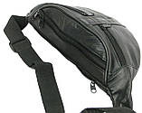 Поясная сумка из натуральной кожи Cavaldi 901-353 black, черная, фото 7