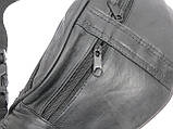 Поясная сумка из натуральной кожи Cavaldi 901-353 black, черная, фото 9