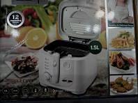 Техника для кухни фритюрница DSP KB 2002 на 1,5л аппарат для жарки во фритюре