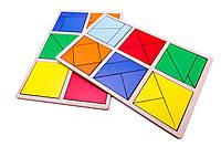 Методика Никитиных. Сложи квадрат (Склади квадрат) 1-й уровень.