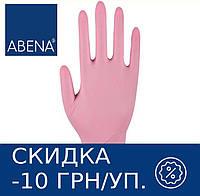 Перчатки нитриловые неопудренные ABENA Classic (розовые), фото 1