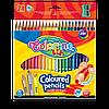 Трехгранные цветные карандаши с точилкой 24 цвета с точилкой Colorino Triangular coloured pencils