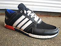 Кроссовки мужские летние кожа+сетка Adidas 40 -45 р-р, фото 1