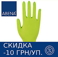 Перчатки нитриловые неопудренные ABENA Classic (зеленые), фото 1