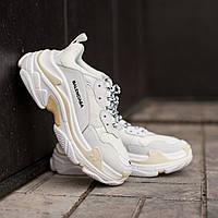 Кроссовки Balenciaga Triple S White \ Баленсиага Трипл С Белые \ Кросівки Баленсіага Тріпл С Білі