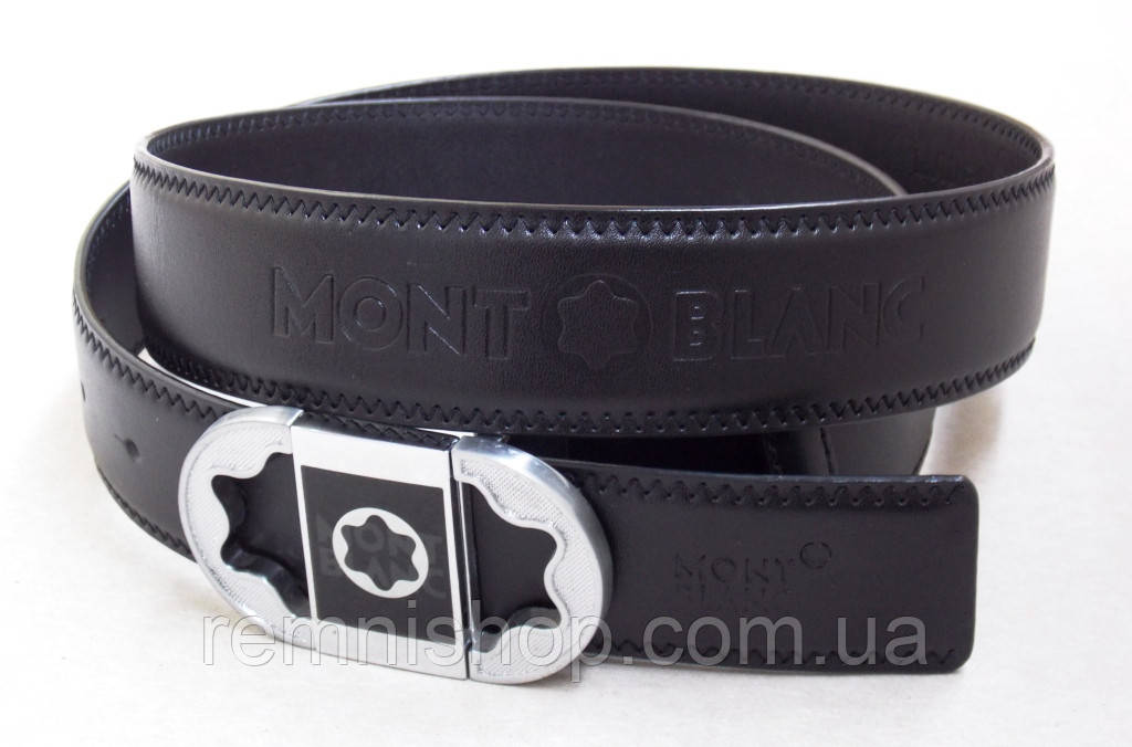07ca490cefc4 Кожаный ремень унисекс Montblanc