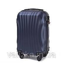 Комплект чемоданов из поликарбоната 3 штуки малый, средний, большой Wings ракушка синий, фото 3