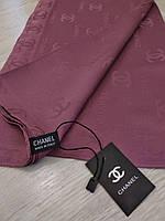 Шелковый брендовый платок, цвет пыльная роза