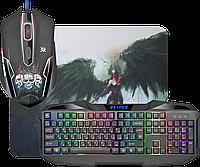 Игровой набор Defender Reaper MKP-018, мышь+клавиатура+ковер