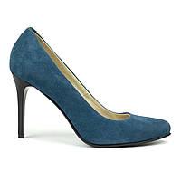 Туфли на каблуке синий (О-661), фото 1