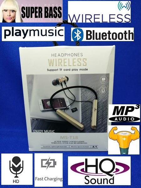 Bluetooth наушники t18 с микрофоном / headphone