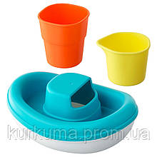 IKEA SMAKRYP Игрушка для ванны, набор из 3, сосуд  (202.603.94)
