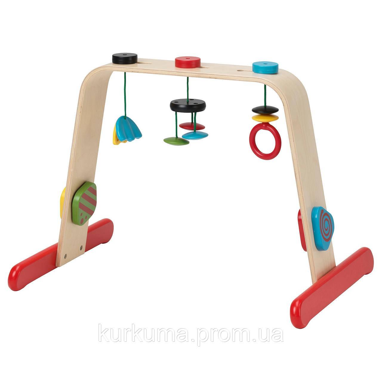 IKEA LEKA Стойка с игрушками, береза, разноцветный  (701.081.77)