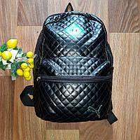 Спортивный женский рюкзак стеганый кожзам