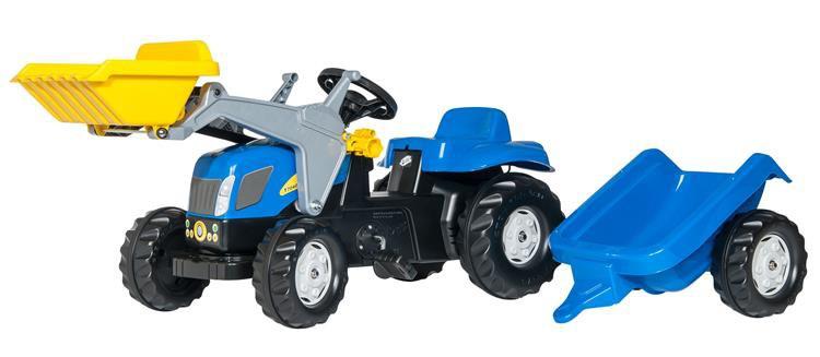 Трактор с прицепом и ковшом Rolly Toys rolly Kid NEW HOLLAND 023929