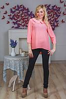 Блуза молодежная с воротником персик, фото 1
