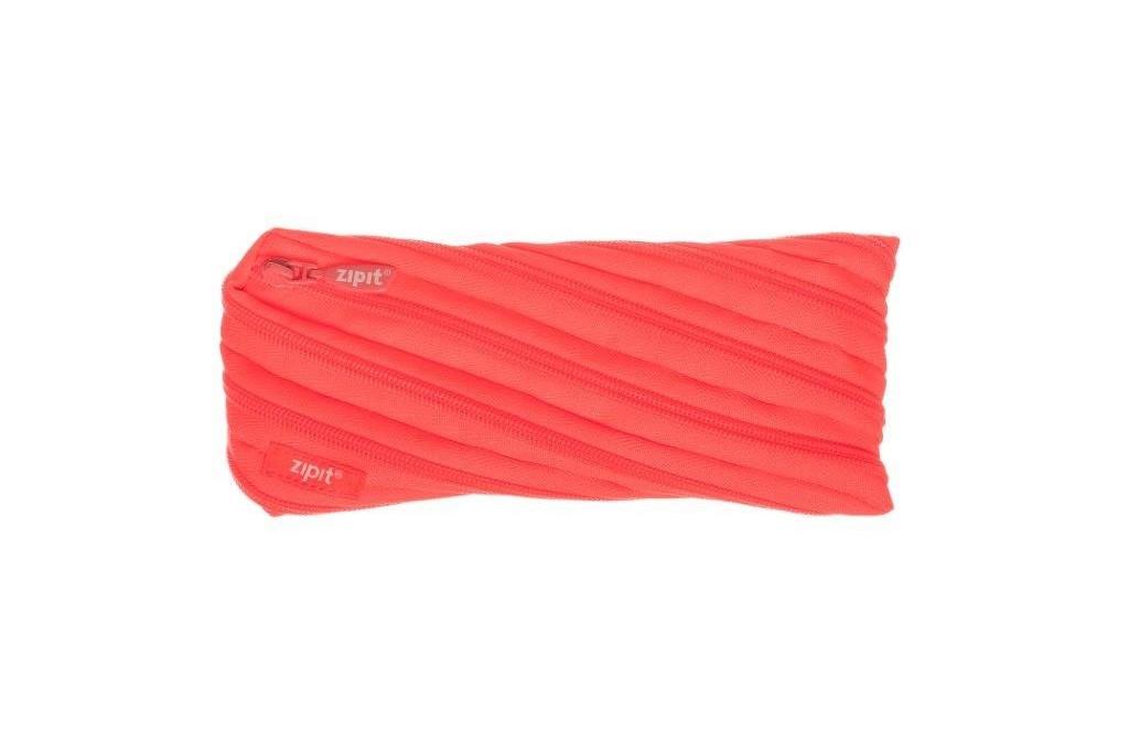 Пенал ZIPIT NEON, цвет GLOWING PEACH (персиковый)